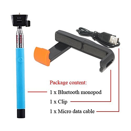west port mini self standing monopod selfie stick tripod bluetooth for camera iphone 5s 5 4s 4. Black Bedroom Furniture Sets. Home Design Ideas