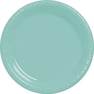 """Robin's Egg Blue 10 1/4"""" Plastic Plate"""