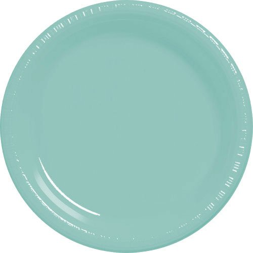 plate 10.25 pls robins egg blue