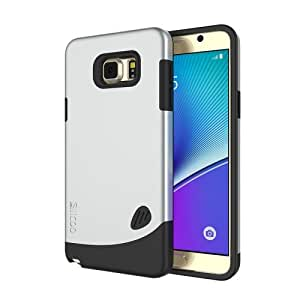 Crazy4Gadget SLiCOO Cobblestone PC + TPU Combination Case for Samsung Galaxy Note 5 / N920(Silver)
