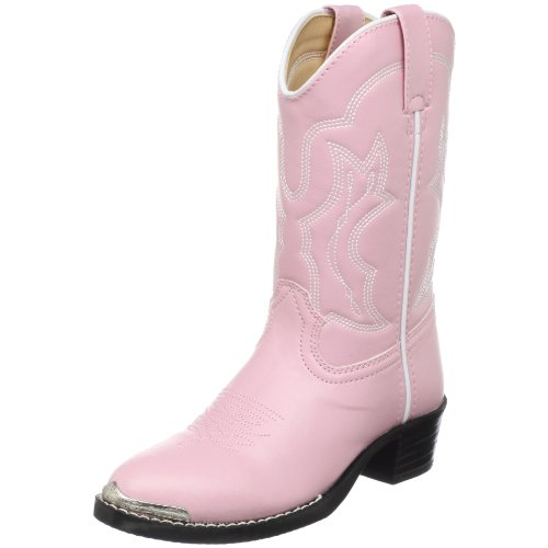 Durango Kids' Bt758 Lil' Dusty Pink N Chrome Western Boot,Pink,7.5 D Us Toddler front-37525
