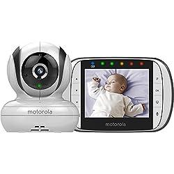 """Motorola Baby Monitor Video Digitale con Schermo LCD a Colori da 3.5"""", MBP36S, Bianco"""