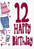 Selective Girls Special Age 12 Happy 12Th Birthday Card Girl Childrens Ages Cards