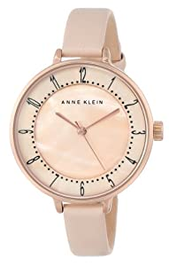 Anne Klein Women's AK/1406RGLP Watch with Leather Band
