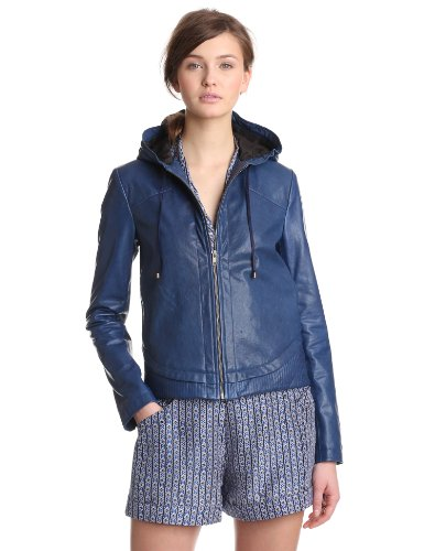 10 Crosby Derek Lam Women's Hooded Jacket, Twilight, 6
