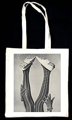 Tights Black and White TOTE BAG