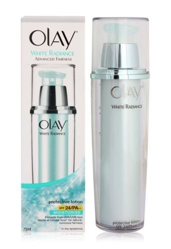 Olay White Radiance Advance Fairness Protective Lotion SPF 24 / Pa++ 75 Ml olay white radiance advance fairness protective lotion spf 24 pa 75 ml