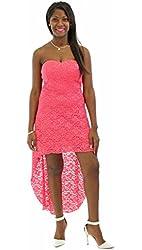 Trixxi Juniors Strapless Lace High Low Dress