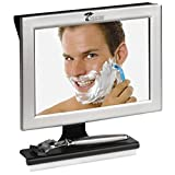 ToiletTree Products Fogless Shower Bathroom Mirror with Squeegee, Silver