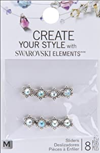 Jolee's Jewels Swarovski Elements Sliders-Silver Small Star/Crystal AB 8/Pkg