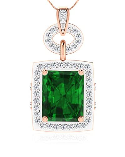 Art Of Diamond Halskette Emerald Rose Gold