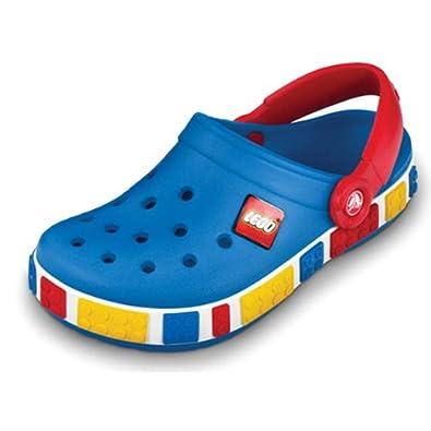 Crocs Kids Crocband Lego Shoes (C10-11, Seablue Red)