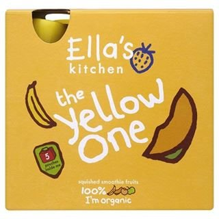 Organic Smoothie Fruits The Yellow One 5 X 90g By Ella's Kitchen