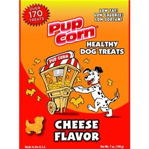 SUNSHINE MILLS Pup Corn Cheese Flavored Dog Treat,7-Ounce (738039206215)