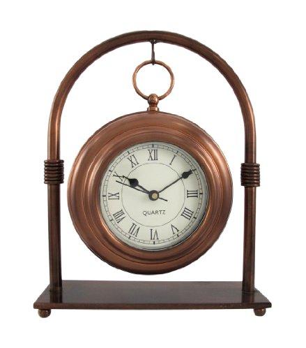 Antiqued Copper Finish Hanging Mantel / Desk Clock