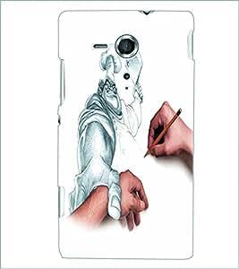 PRINTSWAG BUTCHER SKETCH Designer Back Cover Case for SONY XPERIA SP