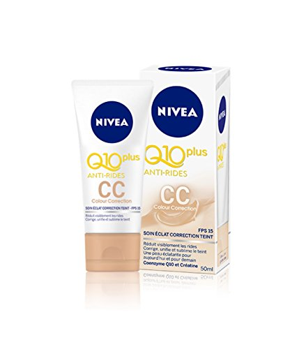 Nivea Q10+ Anti-Rides CC Cream Soin Eclat Correction Teint 50 ml - Lot de 3