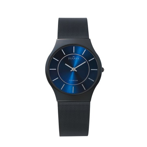 Skagen Men's 233LTMN Titanium Black Mesh Watch