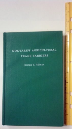 Nontariff Agricultural Trade Barriers