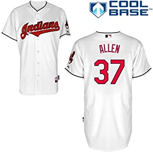 Cody Allen Cleveland Indians Home Authentic Cool Base Jersey by Majestic by Majestic