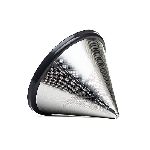 'Able Brewing Kone Coffee Filter for Chemex Coffee Maker - stainless steel reusable - made in USA' from the web at 'http://ecx.images-amazon.com/images/I/41t5WKios7L.jpg'