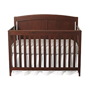 Summer Infant Woodberry Grow With Me 4-in-1 Convertible Crib with Simple Adjust, Mocha