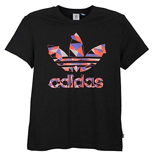 [アディダスオリジナルス] adidas Originals GEOMETIC TREFOIL T-SHIRT Black Tシャツ 黒 [並行輸入品]