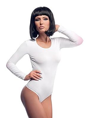 Evoni Damenbody   Overall Bodysuit mit Rundhals für Frauen   Langarm-Body in verschiedenen Farben mit Verschluss im Schritt   optimale Alternative für Sport & Freizeit   eleganter Jumpsuit