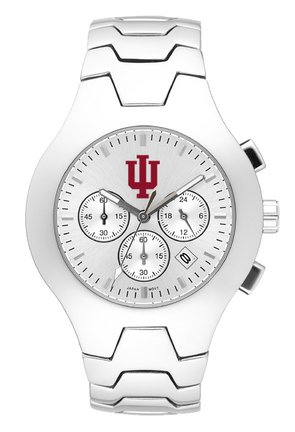 Indiana Hoosiers NCAA Mens IU Hall of Fame Watch with Stainless Steel Bracelet by Logo Art