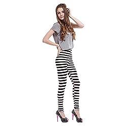 Jaune Monochrome Horizontal Stripes Leggings