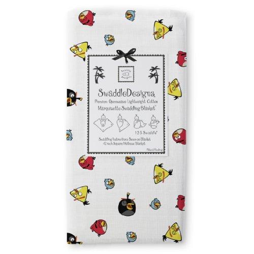 Swaddledesigns Marquisette Swaddling Blanket, Angry Birds Baby, Multi Bird