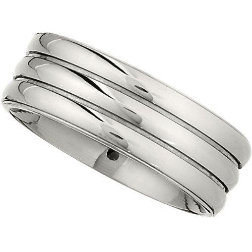 Titanium, Ridged Wedding Band (sz 10)