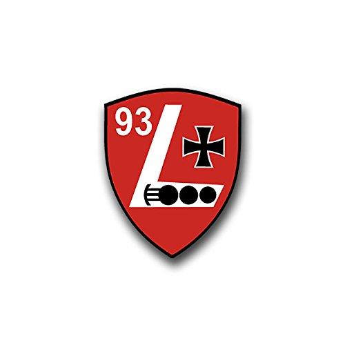 Aufkleber / Sticker - PzLehrBtl 93 Aufkleber Sticker Panzer Lehr Bataillon Panzerlehrbataillon Wappen Abzeichen Emblem passend für Mustang Opel VW Golf 6x7cm #A822