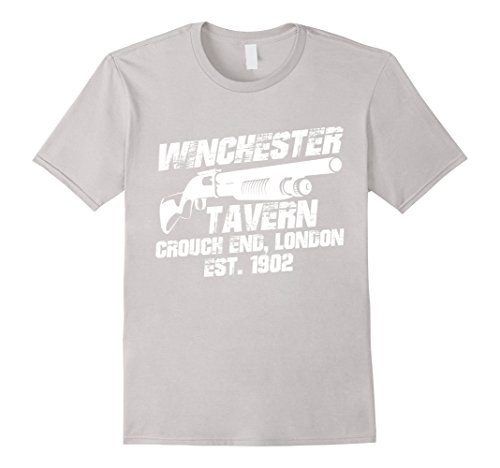 [Men's Winchest. Tavern Gun Shot Movie London Fan Cool Gift T-shirt XL Silver] (Movie Character Costume Ideas Homemade)