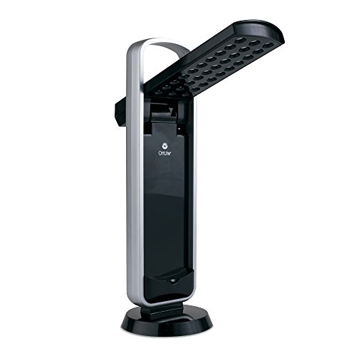 OttLite 290G59 Battery-Operated LED Mobile Task Lamp, Black (Battery Operated Lamps With Shade compare prices)