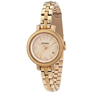 Fossil Women's ES3136 Stainless Steel Analog Gold Dial Watch