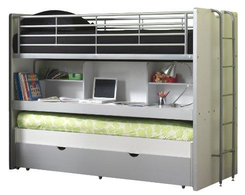 Vipack Lit mezzanine Bonny 80 - gris