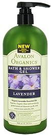 Avalon Organics Bath and Shower Gel Lavender 32 Ounce