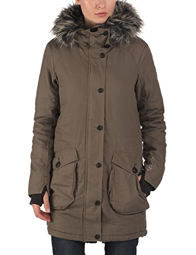 Bench - Parka WOLFISH II B, Giacca Donna, Marrone (Bungee Cord), Small (Taglia Produttore: Small)