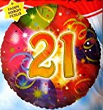 RIETHMÃLLER Folienballon Birthday 21, Heliumfüllung:Gefüllt