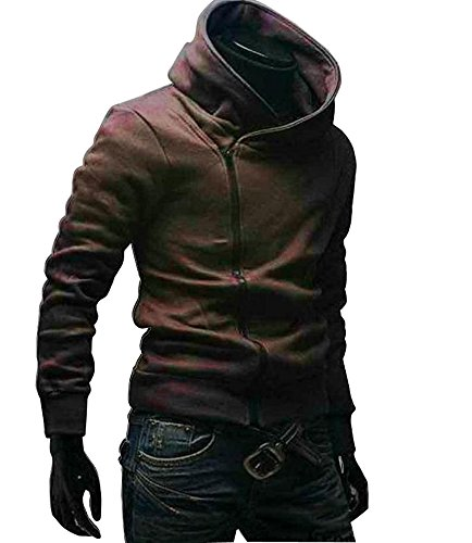 Generic High Collar Men's Jacket Slim Dust Coat Hoodie Clothes Sweater Overcoat