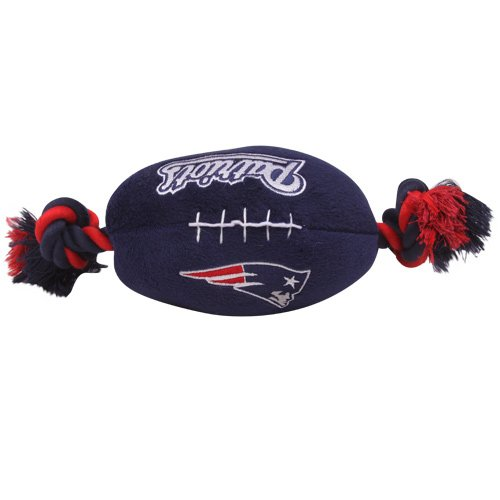 New England Patriots Pet Football Rope Toy, 6-Inches long