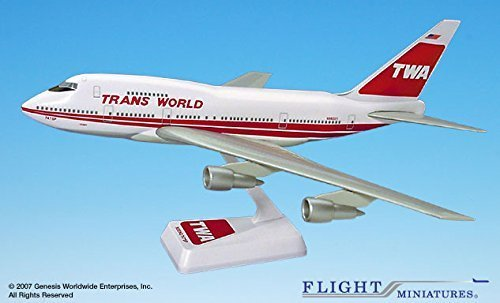 twa-74-95-boeing-747sp-airplane-miniature-model-plastic-snap-fit-1200-part-abo-747sph-004-by-flight-