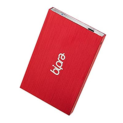 Bipra 160Gb 160 Gb 2.5 Usb 2.0 External Pocket Slim Hard Drive - Red - Fat32 (160Gb)