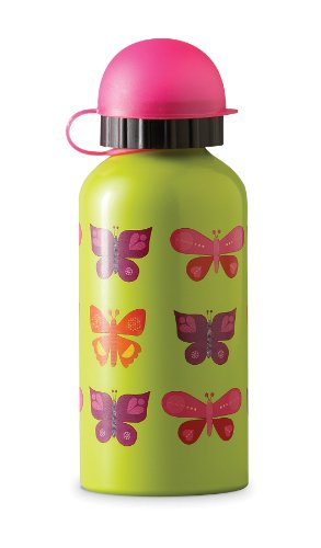 BUTTERFLY Kid STAINLESS STEEL eco WATER bottle safe