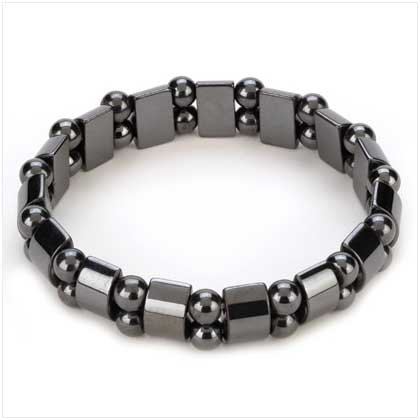 HEMATITE BLACK PEARL STRETCHABLE LADIES WOMENS BRACELET