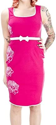 "Pink with White Flowers ""Hot to Trot"" Dress from Sourpuss Clothing"