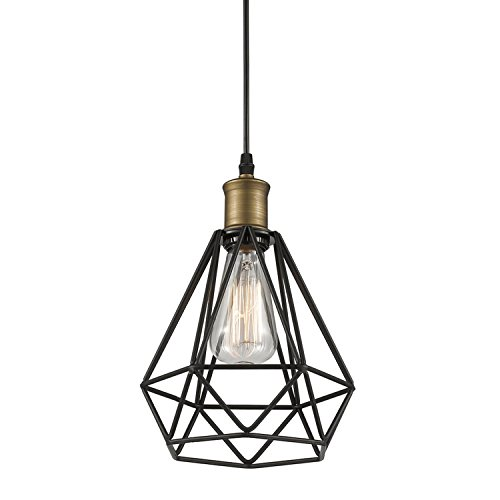 YOBO Lighting Polygon Wire Pendant Light Art Deco