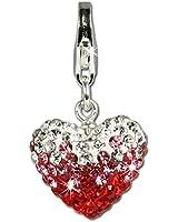 SilberDream scintillement bijoux - Charm Coeur Heart - Femme - Argent 925/1000 - Cristaux Swarovski rouge ICE - scintillement Charms - GSC002
