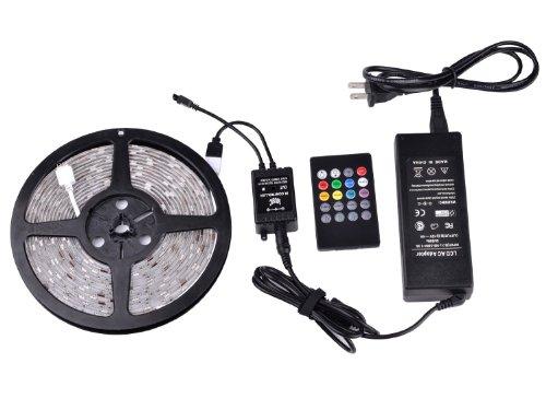 Newest Promotion Taotronics® Tt-Sl029 Ir Music Controller 5M 5050 Rgb 150 Led Strip Light Kit (150 Leds, Waterproof, 20Key, Adapter))